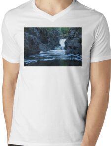 Fallen Tree Bridge, Cascade River Mens V-Neck T-Shirt