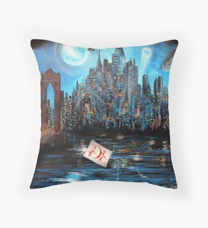 Watching over Gotham Throw Pillow