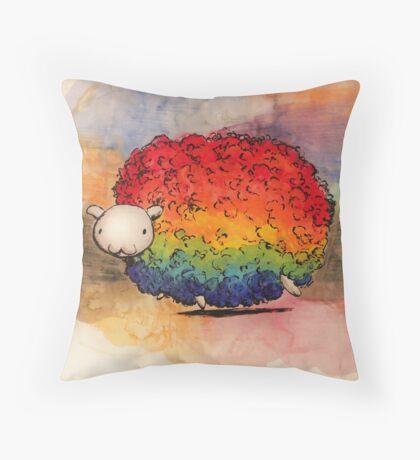 Nyan Sheep Throw Pillow