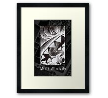 Mouth all Mighty Framed Print