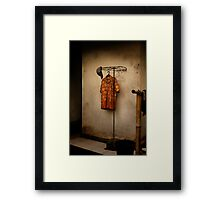 Orange shirt Framed Print