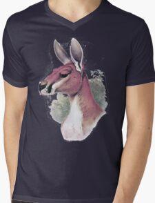 Red kangaroo portrait Mens V-Neck T-Shirt