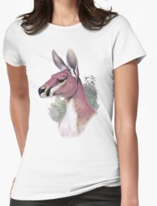 Red kangaroo portrait Womens Fitted T-Shirt