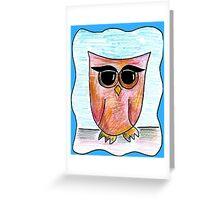 Eyeliner Owl Greeting Card