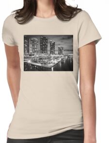 Docklands , Melbourne  Womens Fitted T-Shirt