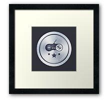 Top Gamer: Metal Badge Framed Print