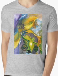 Waterlily Masquerade Mens V-Neck T-Shirt