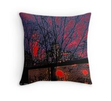 Red Sky on a Perth Summer Night Throw Pillow