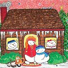 Log Cabin Snowmen by Cathy Moody