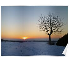 Sunset in the snow Poster
