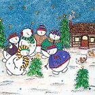 Snowman Gathering by Cathy Moody