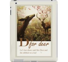 D for Deer, animal alphabet illustration iPad Case/Skin