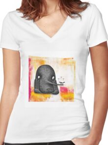 Grounded Women's Fitted V-Neck T-Shirt