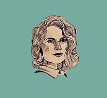 Peggy Carter - Teal Phone Case by hollylouisa