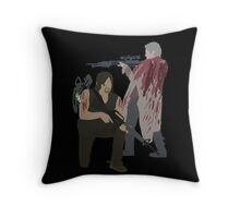 Carol Peletier and Daryl Dixon (Version 2) - The Walking Dead Throw Pillow