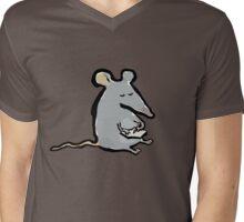 scribbling mouse Mens V-Neck T-Shirt