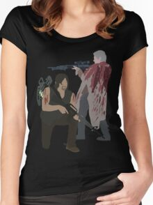 Carol Peletier and Daryl Dixon (Version 2) - The Walking Dead Women's Fitted Scoop T-Shirt