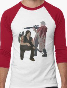 Carol Peletier and Daryl Dixon (Version 2) - The Walking Dead Men's Baseball ¾ T-Shirt