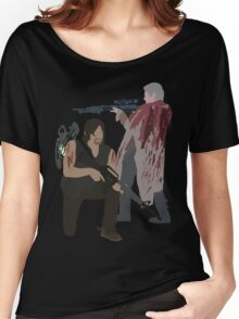 Carol Peletier and Daryl Dixon (Version 2) - The Walking Dead Women's Relaxed Fit T-Shirt