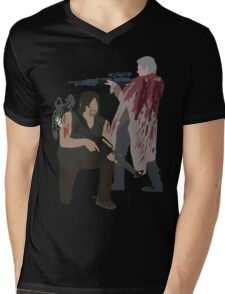 Carol Peletier and Daryl Dixon (Version 2) - The Walking Dead Mens V-Neck T-Shirt
