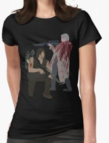 Carol Peletier and Daryl Dixon (Version 2) - The Walking Dead Womens Fitted T-Shirt