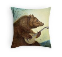 Mandolin Bear Throw Pillow