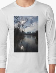 New York City Central Park Reflections, Ripples and Shine Long Sleeve T-Shirt
