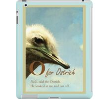 O for Ostrich, bird illustration iPad Case/Skin