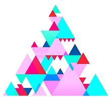 Geometric Triangle Design 3 by Matthew Gilbert