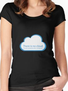 There is no cloud! Women's Fitted Scoop T-Shirt