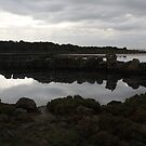 Rock pool reflections by Christine Oakley