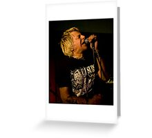 Uk Subs Charlie Harper Greeting Card