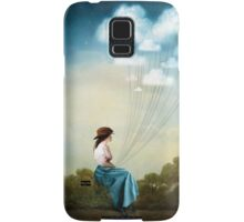 Blue Thoughts Samsung Galaxy Case/Skin
