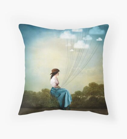 Blue Thoughts Throw Pillow