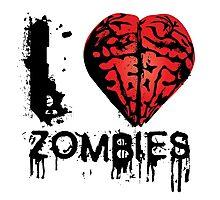 I heart Zombies Photographic Print
