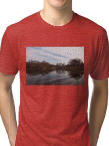 New York City Central Park Bow Bridge Quiet Reflections Tri-blend T-Shirt