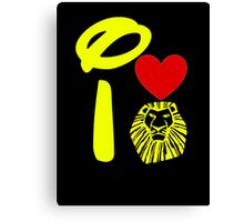 I Heart The Lion King (Gold) Canvas Print