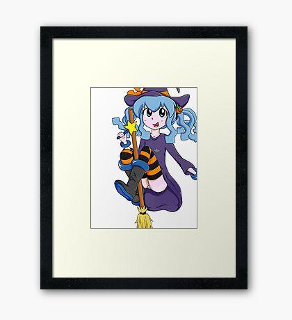 Ika Musume Squid Girl witch cosplay Halloween anime girl Framed Print