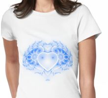 New Age Digital Alien Heart Series # 1 Womens Fitted T-Shirt