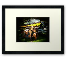 Yellow Flame Delight! Framed Print