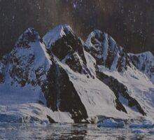 Distorted Mountains Sticker