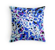 Blue Tones 1 Abstract Pattern  Throw Pillow