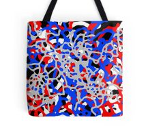 Red White & Blue Abstract Pattern Tote Bag