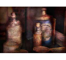 Pharmacist - Medicine for Diarrhea and Burns  Photographic Print