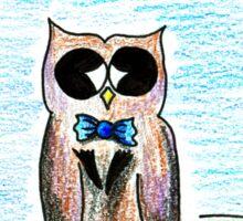 Dapper Owl Sticker