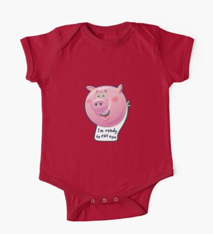 Ready to Eat Now - kids size One Piece - Short Sleeve