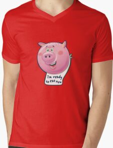 Ready to Eat Now - kids size Mens V-Neck T-Shirt