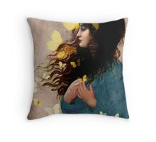 Bye bye butterfly Throw Pillow