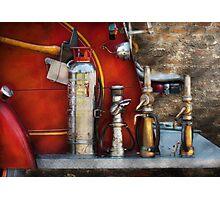 Fireman - An Assortment of Nozzles Photographic Print