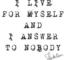 "Steve McQueen: ""I live for myself and I answer to nobody"" by Djidiouf"